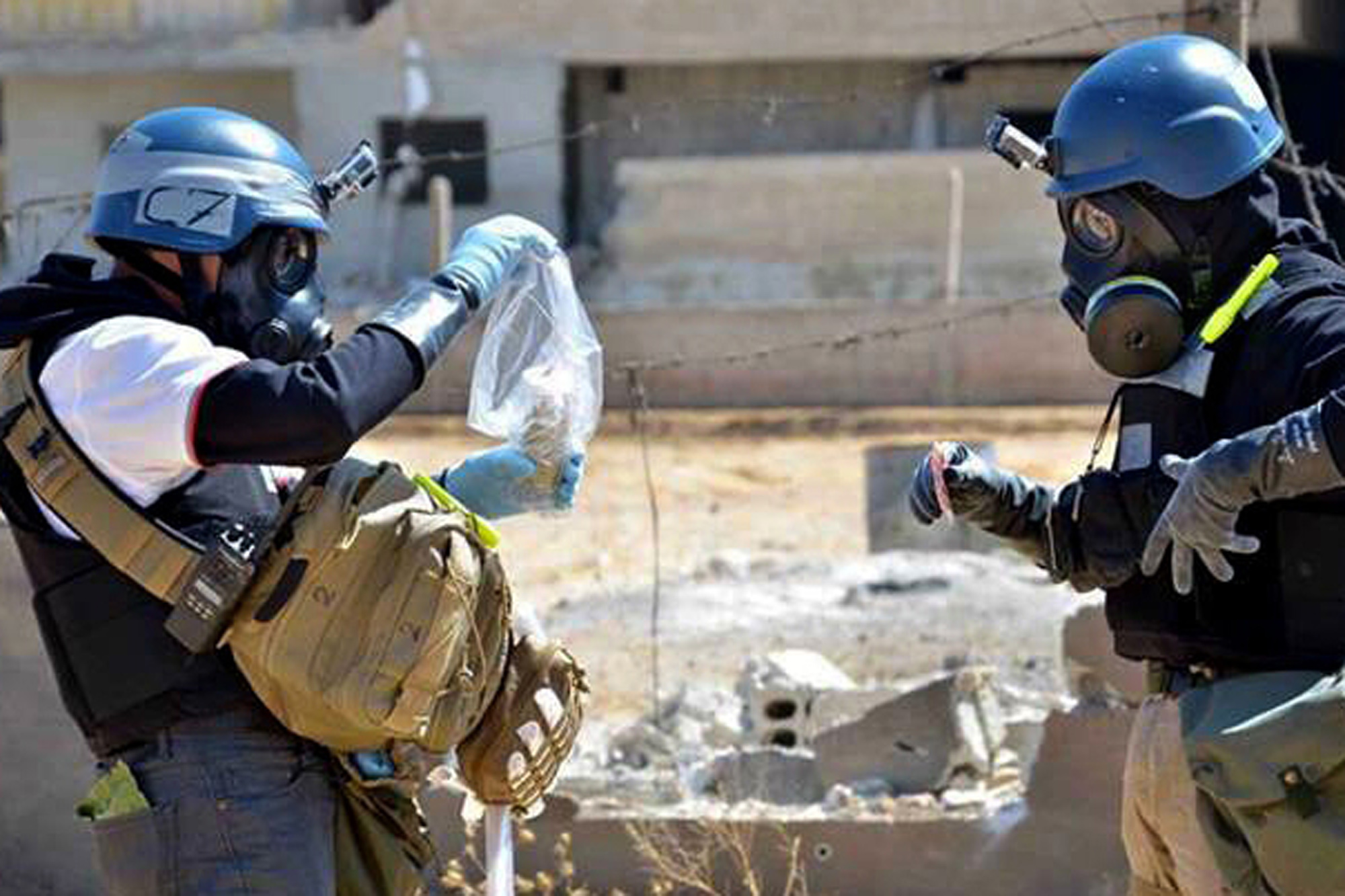 صورة مطالبة أممية بضمانات للتحقيق بهجمات كيميائية بإدلب