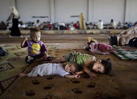 صورة 200 ألف لاجئ سوري في العراق