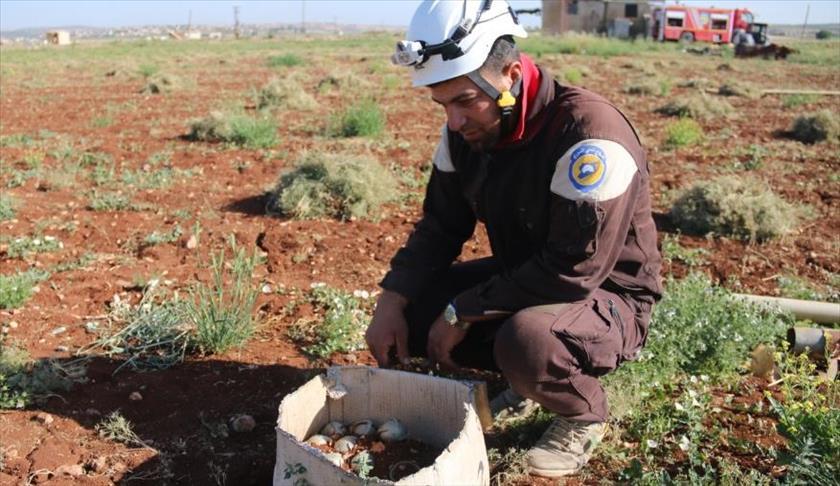 صورة مخلفات القصف شبح يهدد أروح المزارعين
