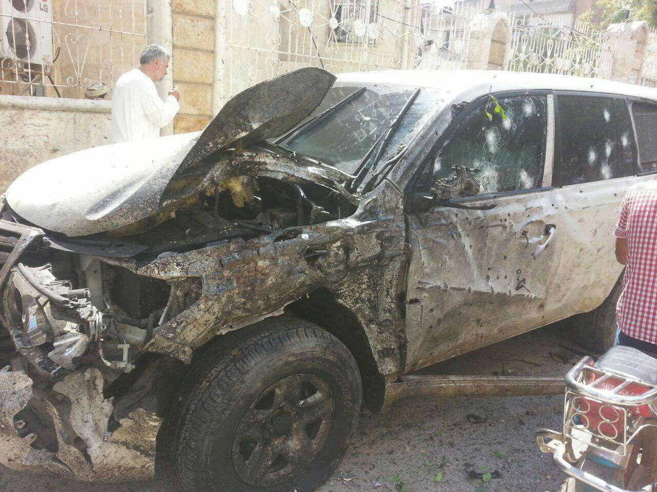 """صورة نجاة """"المحيسني"""" من هجوم انتحاري"""