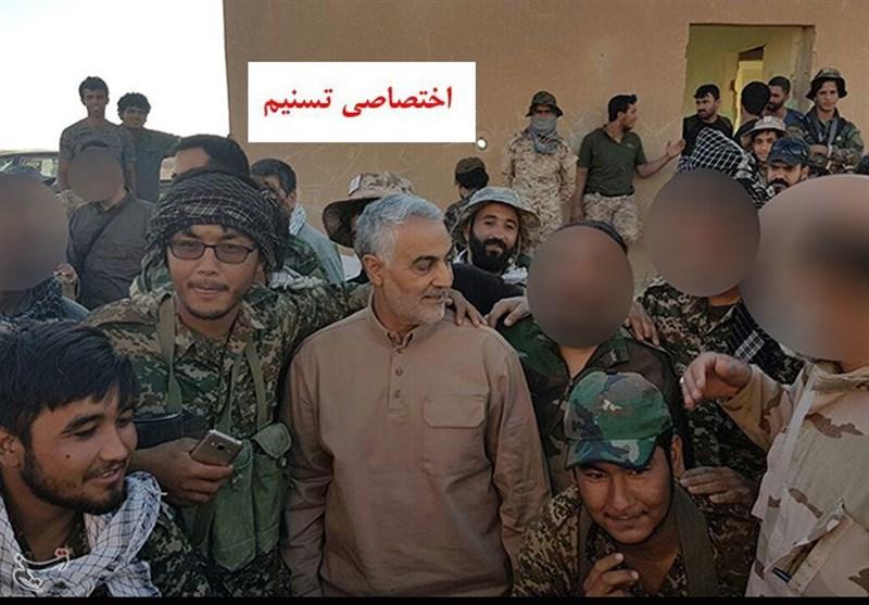 """صورة """"سليماني""""يعلن كسر الحدود السورية العراقية"""
