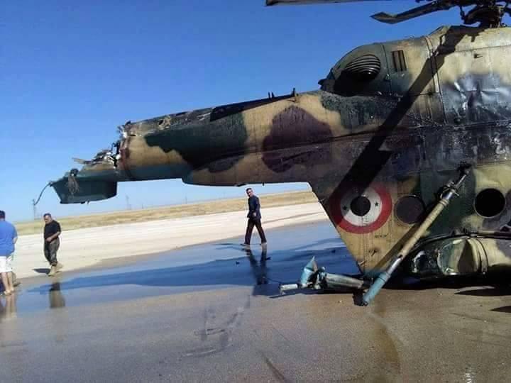 صورة تنظيم الدولة يسقط مروحية للأسد(صور)