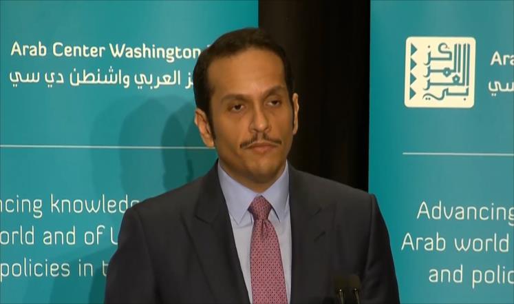 صورة قطر: متفقون مع واشنطن على حل سلمي للأزمة