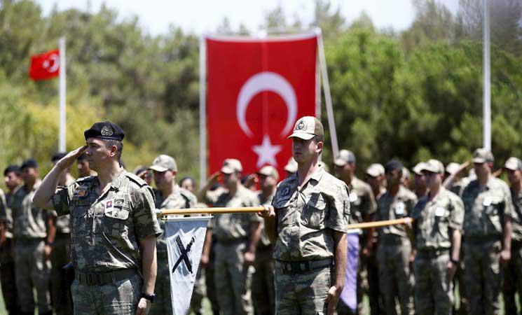 صورة دعما للدوحة..قوات تركية في قطر