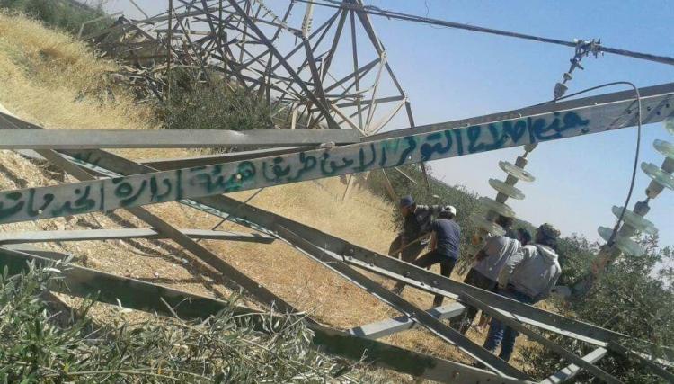 """صورة أحرار الشام تنتقم من """"أبراج كهرباء"""" بـ""""المتفجرات"""""""