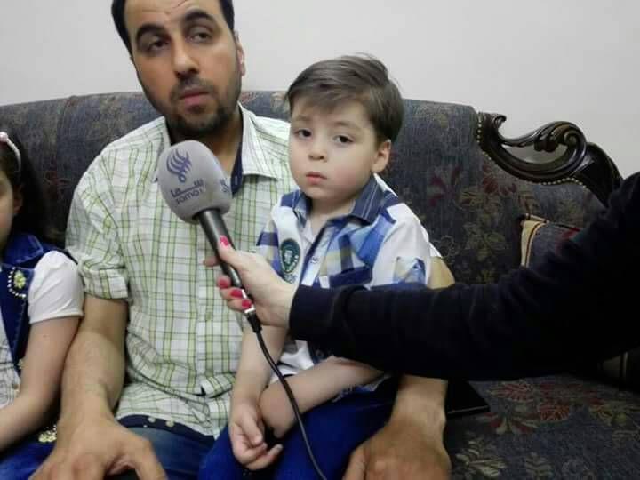 """صورة الرسالة الواجب فهمها من والد الطفل """"عمران"""""""