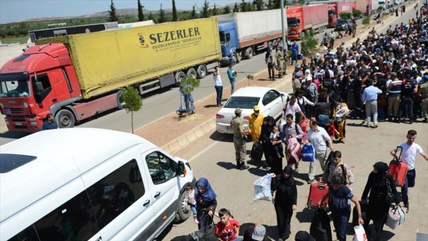 صورة 69 ألف لاجئ دخلوا سوريا لقضاء زيارة العيد