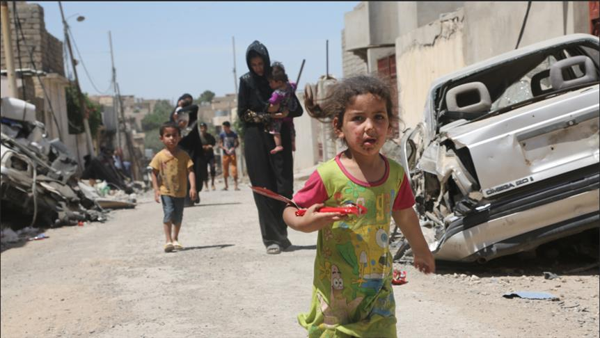 """صورة أهالي الموصل المحاصرة يأكلون """"القطط"""""""