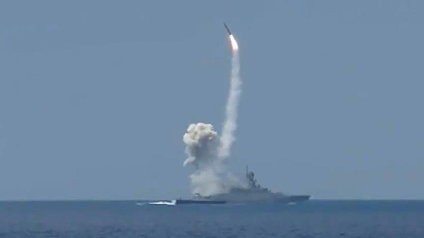 """صورة صحيفة: موسكو أبلغت واشنطن بـ""""الهجمات الصاروخية البحرية"""" بسوريا"""