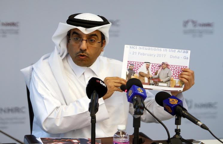 """صورة حقوق الإنسان القطرية تهدّد بمقاضاة """"العربية"""""""