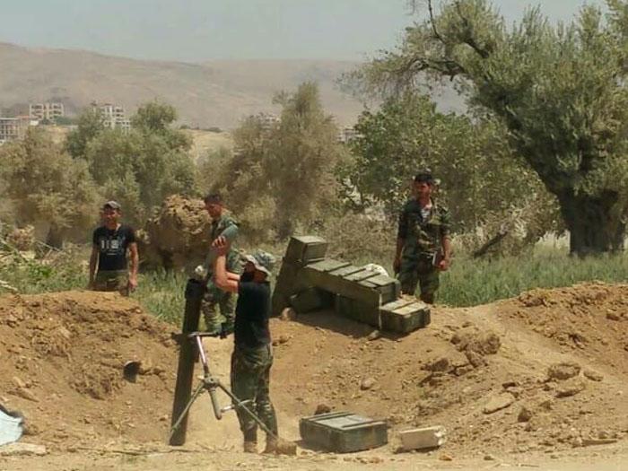 صورة مصرع 9 من جيش التحرير الفلسطيني بمعارك الغوطة
