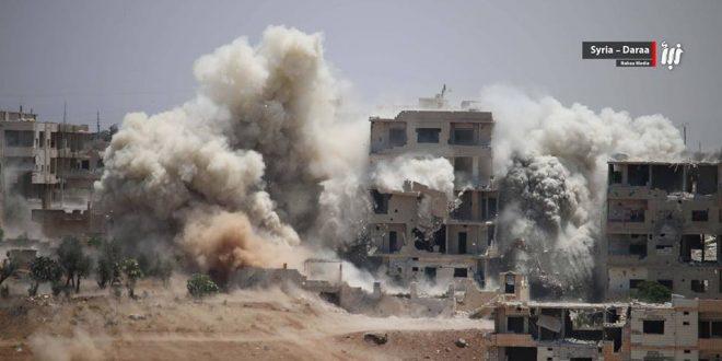 صورة أعنف حملة عسكرية على درعا منذ 2011