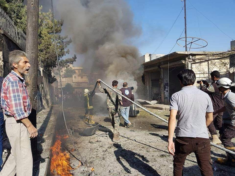 صورة مفخخة تضرب المجمع التربوي بريف حلب