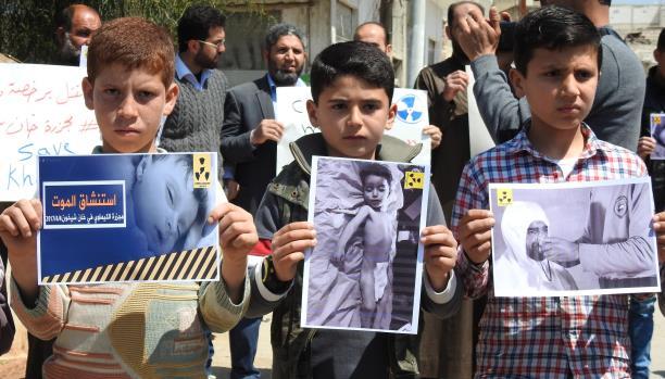 صورة عسكر وعلماء الأسد الكيماويين تحت العقوبات