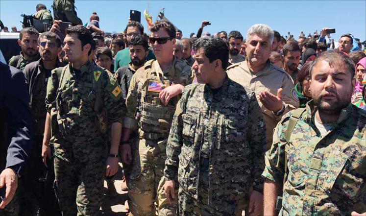 صورة استعدادات أمريكية لدور عسكري كبير بسوريا