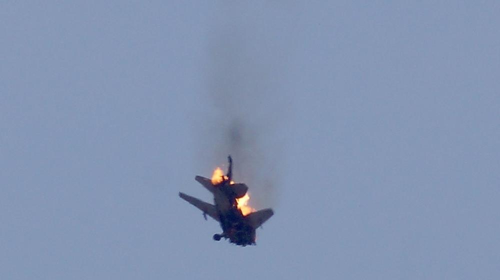 صورة المعارضة تسقط مقاتلة حربية للأسد بالبادية