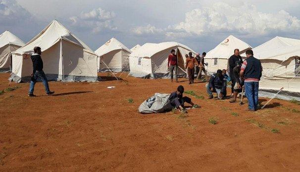 صورة تركيا تفتتح مدرسة بمخيم في جرابلس