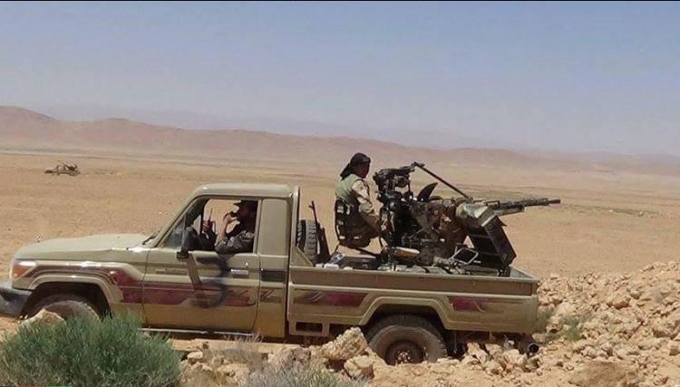 صورة مصرع 40 عنصرا لنظام الأسد بمعارك البادية