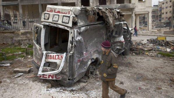 صورة الأسد والروس هاجموا 59 مركز طبي خلال 6 أشهر