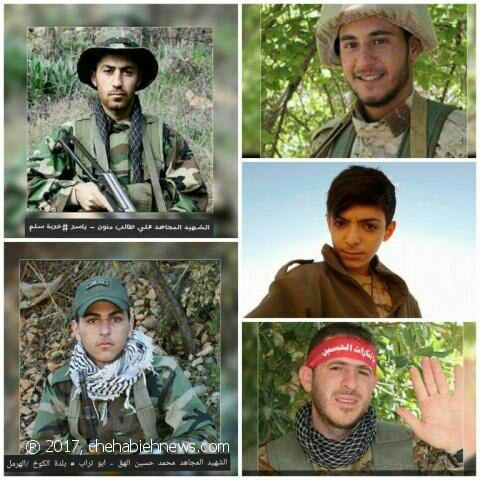 صورة مصرع 5 من قاصري وفتية حزب الله بسوريا