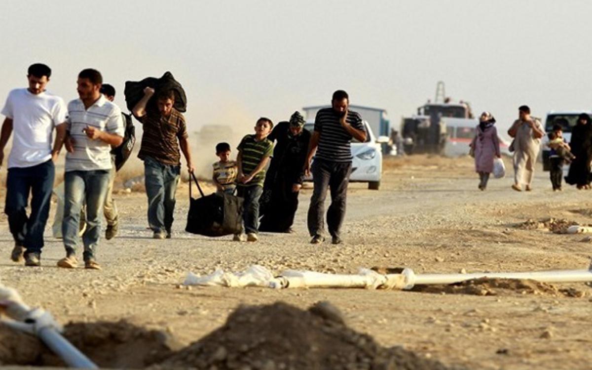 صورة وفاة مدني جوعاً وعطشاً بدير الزور