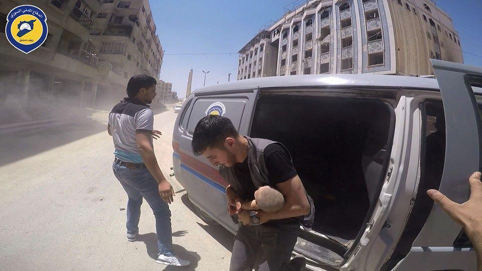صورة الأسد يهاجم الدفاع المدني بعدة محافظات