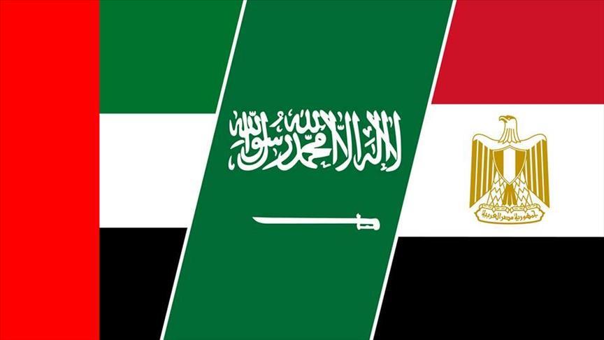 صورة اجتماع رؤساء مخابرات الدول المقاطعة لقطر بالقاهرة