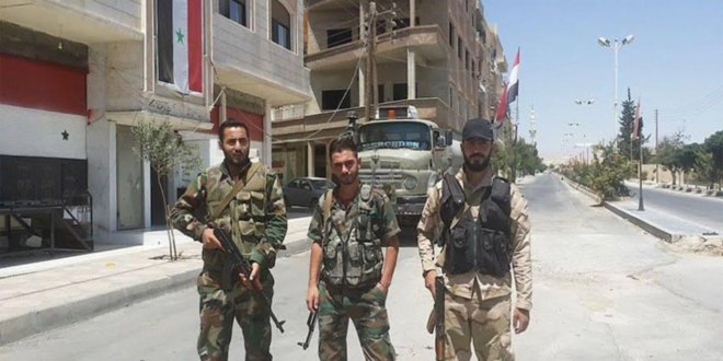 صورة جرحى بمواجهات بين ميليشيات الدفاع الوطني بحمص