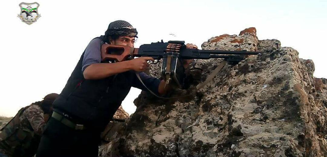 صورة الحر يهاجم قوات الأسد وإيران قرب الحدود الأردنية