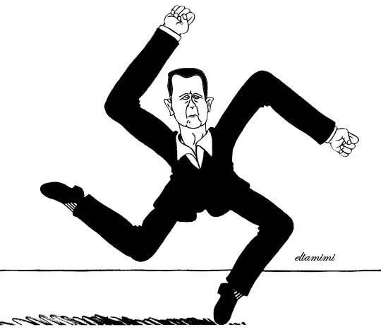 """صورة أحدهم وصفه بـ """"المذهل""""..الأسد بطل النازيين الأمريكيين الجدد!"""