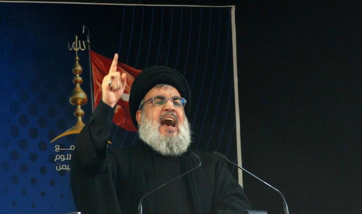 صورة ودعا لبنان للتطبيع مع الأسد..نصر الله يهاجم المعارضة السورية