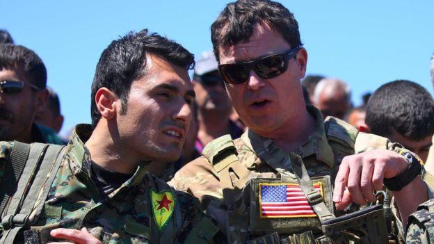 صورة واشنطن والأكراد..أنقرة: تسليح PYD خطر على مستقبل سوريا وأمن تركيا
