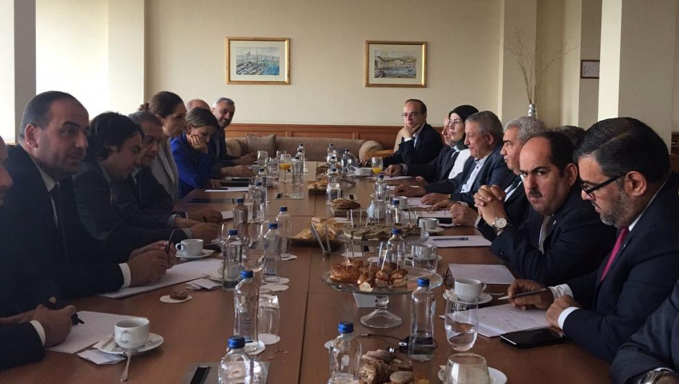 صورة الائتلاف السوري يجتمع مع الخارجية التركية