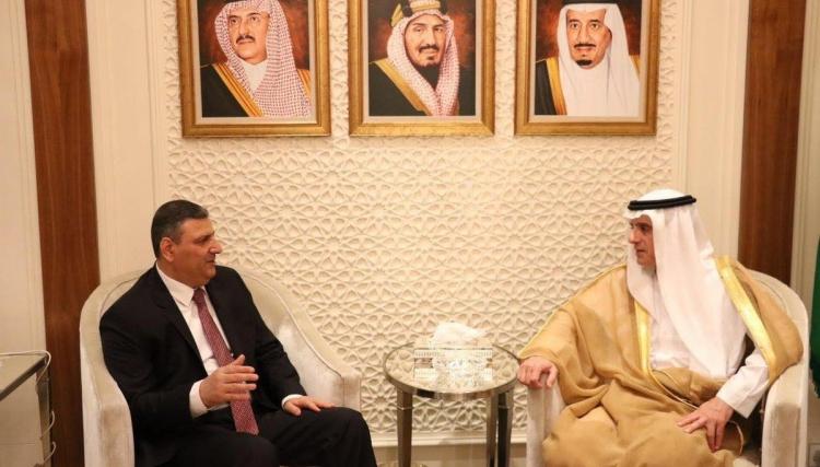 """صورة الجبير يؤكد لـ""""حجاب"""" دعم السعودية للمعارضة"""