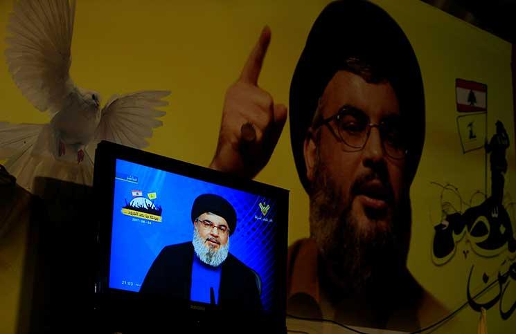 """صورة نصر الله لـ """"تنظيم الدولة"""": سنأتيكم من كل الجبهات"""