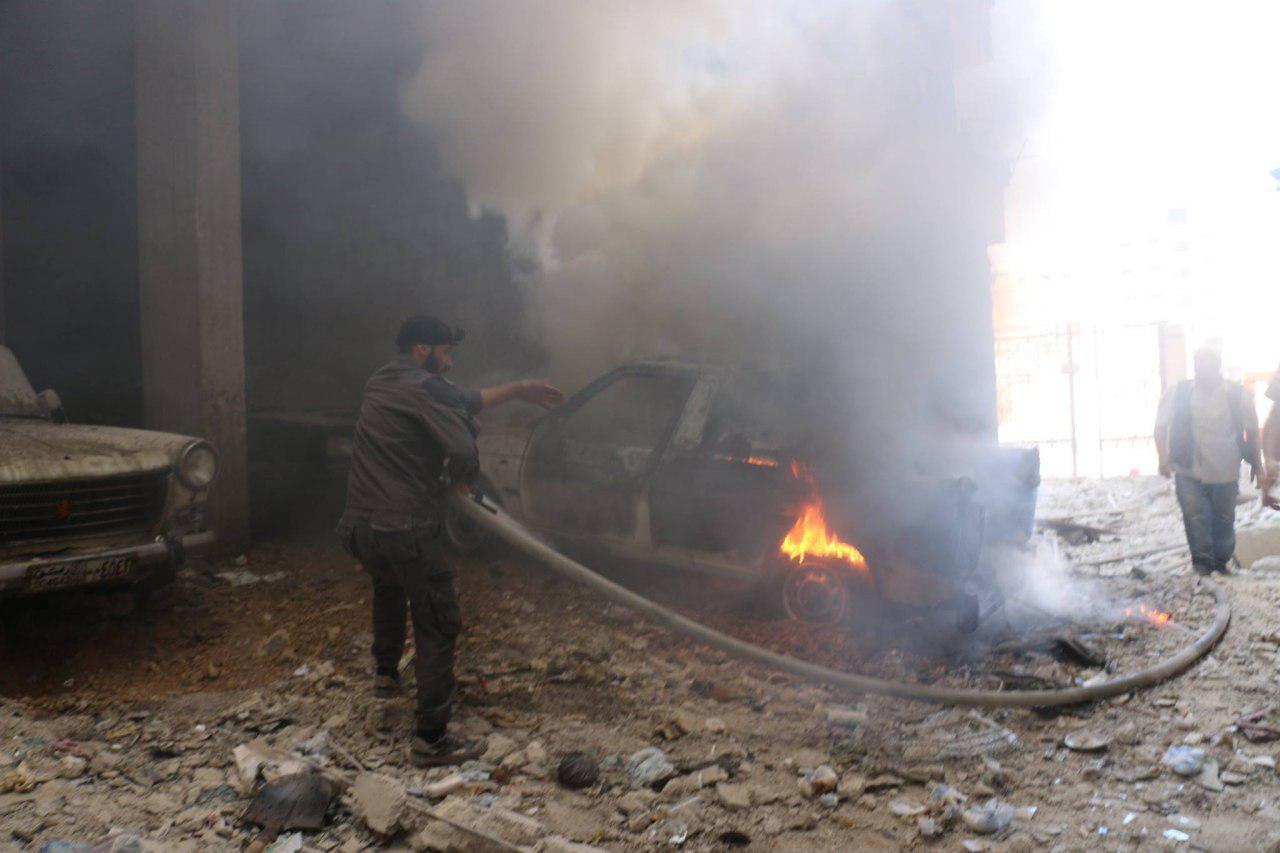 صورة الأسد ينسف هدنة الغوطة بالصواريخ والطيران