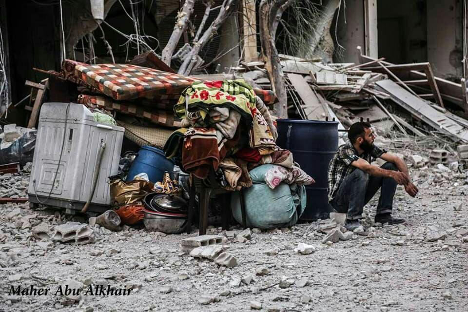 صورة الأسد يهاجم الغوطة ويوقع 5 ضحايا بينهم أطفال
