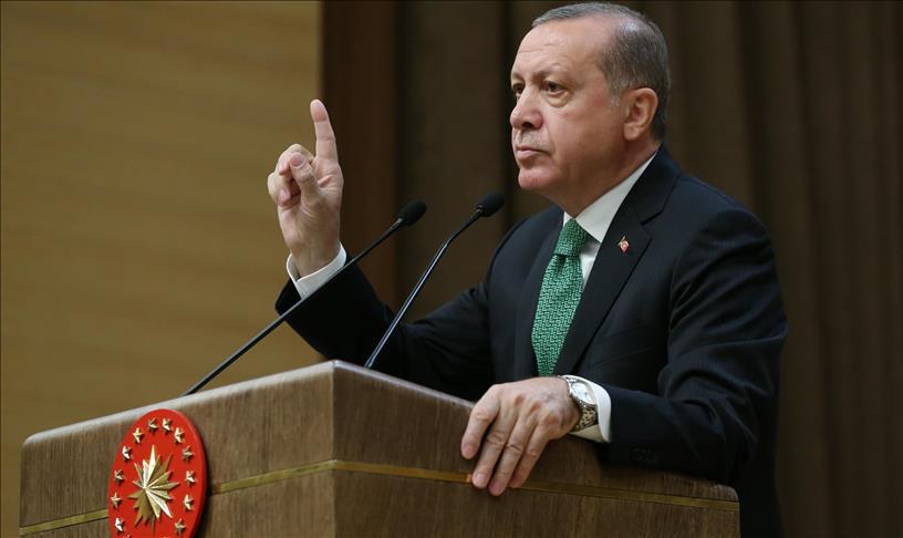 """صورة أردوغان: لن نسمح لـ """"ب ي د """"بتأسيس دويلة شمالي سوريا"""