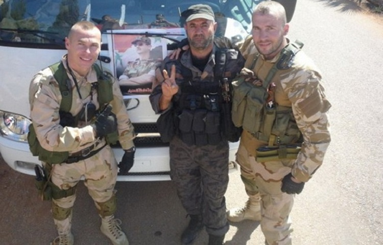 صورة مصرع 3 جنود روس في دير الزور
