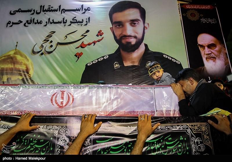 """صورة بالصور..طهران تستقبل جثة القيادي """"حججي"""""""