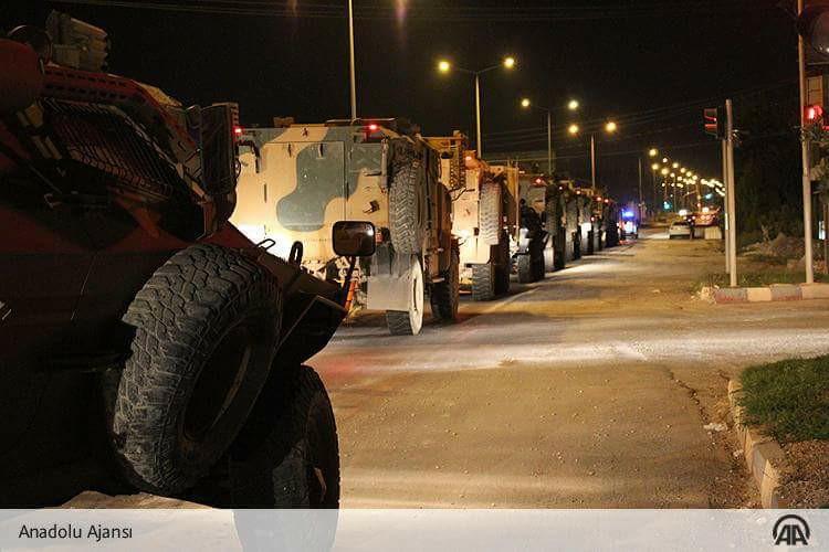 """صورة تعزيزات تركية إلى الحدود المتاخمة لـ""""إدلب"""""""