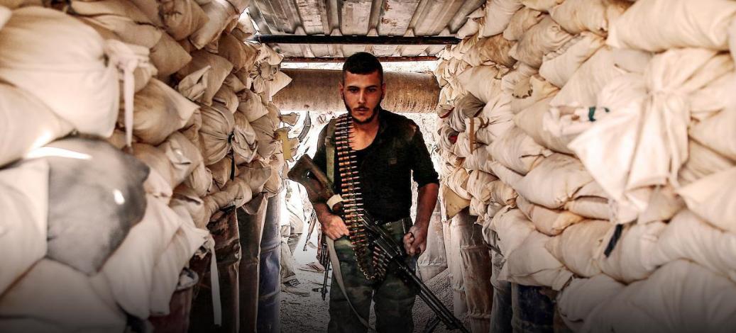 صورة مقتل 10 عناصر من الفرقة الرابعة في جوبر