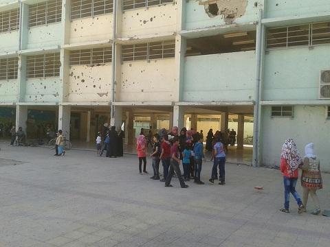 """صورة تنظيم الدولة: المناهج التعليمية بمخيم اليرموك """"كافرة"""""""