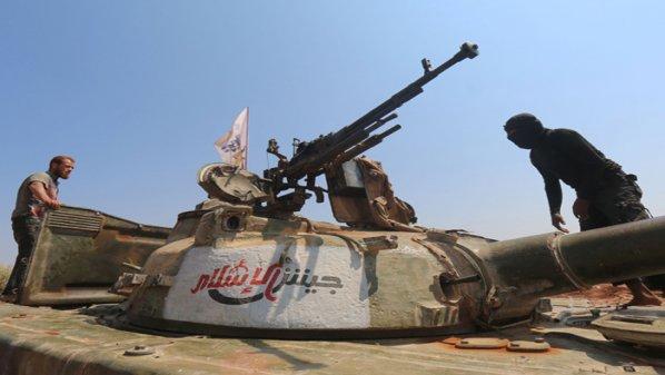 صورة عملية أمنية للمعارضة في درعا