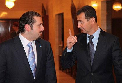 صورة الحريري يشدد لهجته تجاه الأسد..والأخير يصادر أملاكه بسوريا