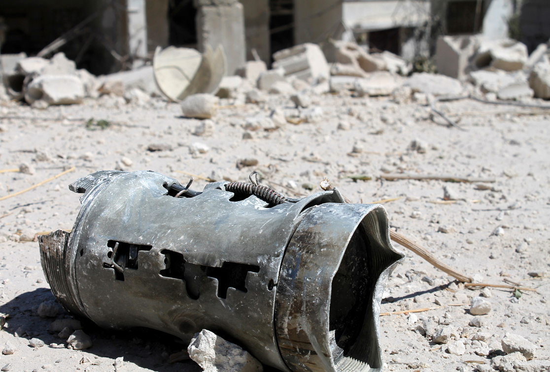 صورة مروحيات الأسد ألقت قرابة 5 آلاف برميل