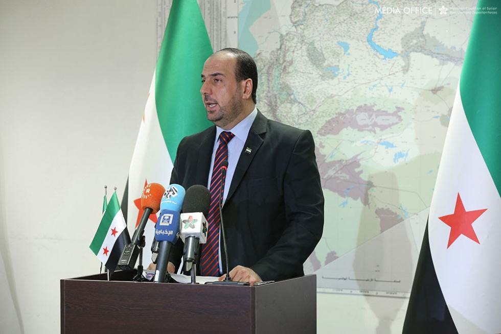 صورة الحريري يطالب بمحاسبة الأسد والضغط على روسيا