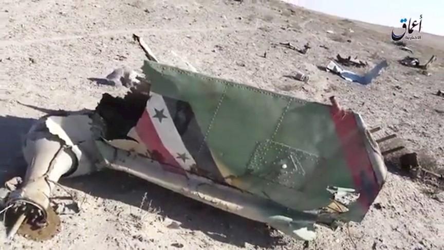 صورة التنظيم يُسقط مروحية للأسد بدير الزور