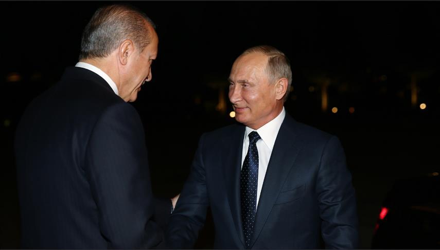 صورة أردوغان: متفقون مع روسيا على وحدة الأراضي السورية والعراقية