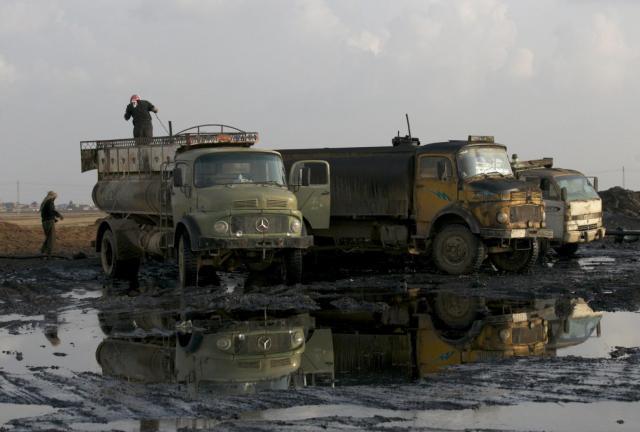 صورة قاعدة نفطية إيرانية قرب حمص